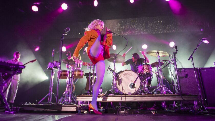 INGLEWOOD, CALIF. -- WEDNESDAY, JULY 18, 2018: Paramore and Foster The People perform at The Forum i