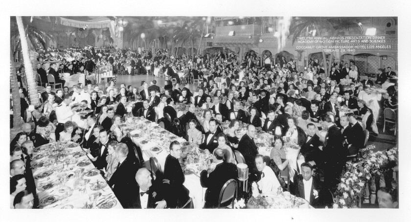 The 12th Academy Awards at the Coconut Grove, Ambassador Hotel, in Los Angeles on Feb. 29, 1940.