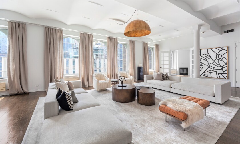 Russell Simmons' condo in Manhattan includes three terraces that combine for 3,500 square feet.