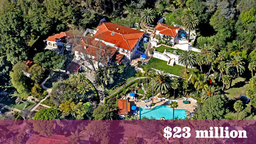 """A Santa Monica home that has had star turns in """"Entourage"""" and as a short-term home of members of Fleetwood Mac during a reunion recording sold for $23 million, making it the most expensive sale in the greater Los Angeles area last week."""