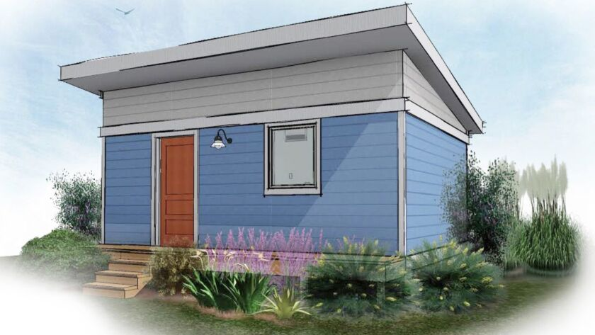Artist rendering of 320 sq. ft. tiny home that Multnomah County in Oregon is going to use in a pilot
