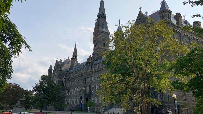 This photo taken on Aug. 19, 2018 shows the Georgetown University campus in Washington.