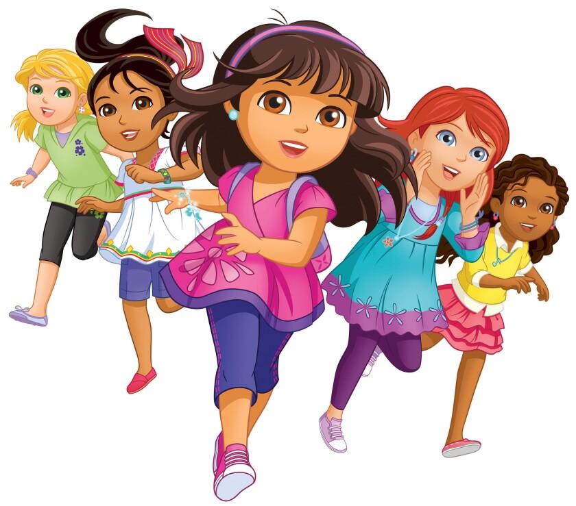 Dora The Explorer, center, gets a 2014 makeover.
