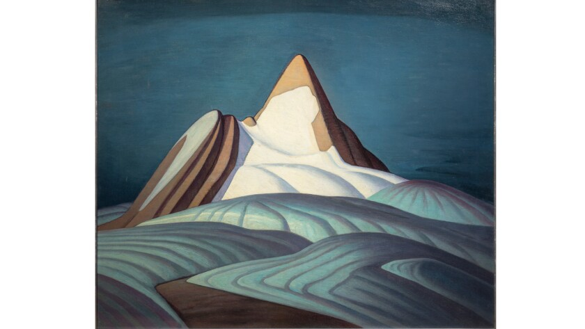 """Lawren Harris' """"Isolation Peak, Rocky Mountains, 1930."""" Purchased by the Art Committee with income from the Harold and Murray Wrong Memorial Fund, 1946. ©Family of Lawren S. Harris."""