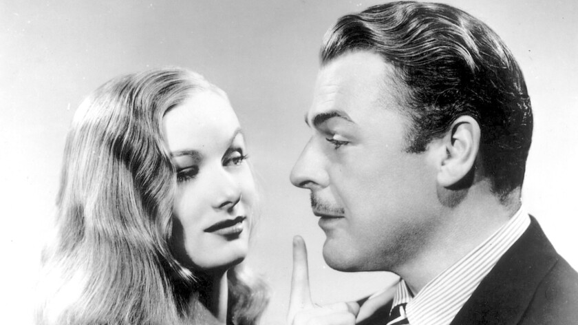 "Veronica Lake and Brian Donlevy in ""The Glass Key."""