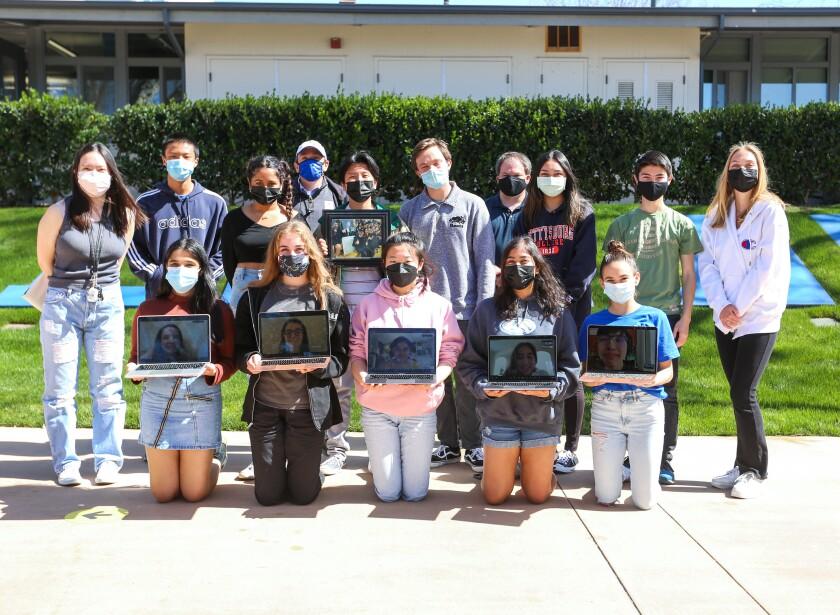 Members of the La Jolla Country Day School Torrey Mock Trial program.