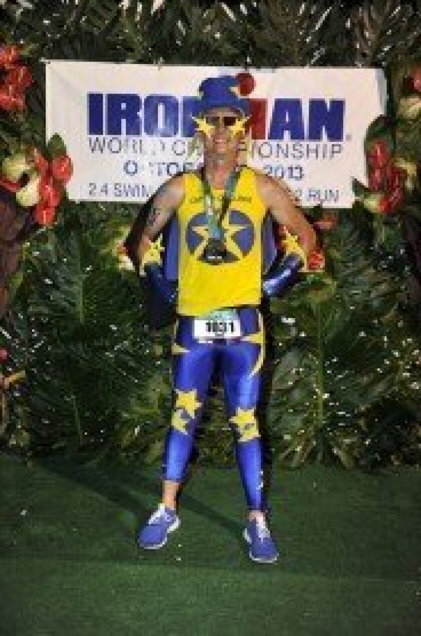 "Ironman Daniel Powell — aka ""Captain Challenge."" Courtesy photo"
