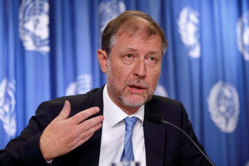 El representante en México del Alto Comisionado de la ONU para los Derechos Humanos, Jan Jarab, durante una conferencia de prensa. EFE/Archivo