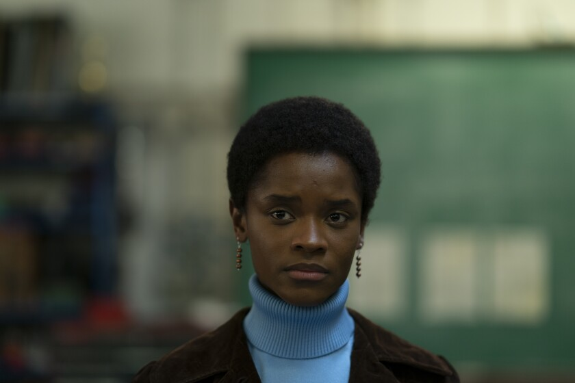 Letitia Wright plays activist Altheia Jones-LeCointe, one of the Mangrove Nine