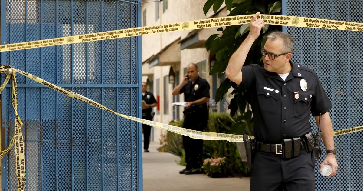 Die Kriminalität in L. A. wieder gesunken im Jahr 2019. Polizei credit community outreach und gang intervention