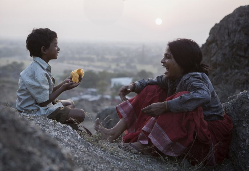 "Sunny Pawar and Priyanka Bose star in ""Lion."""