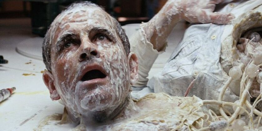 Science officer Ash (Ian Holm) has lost his head.