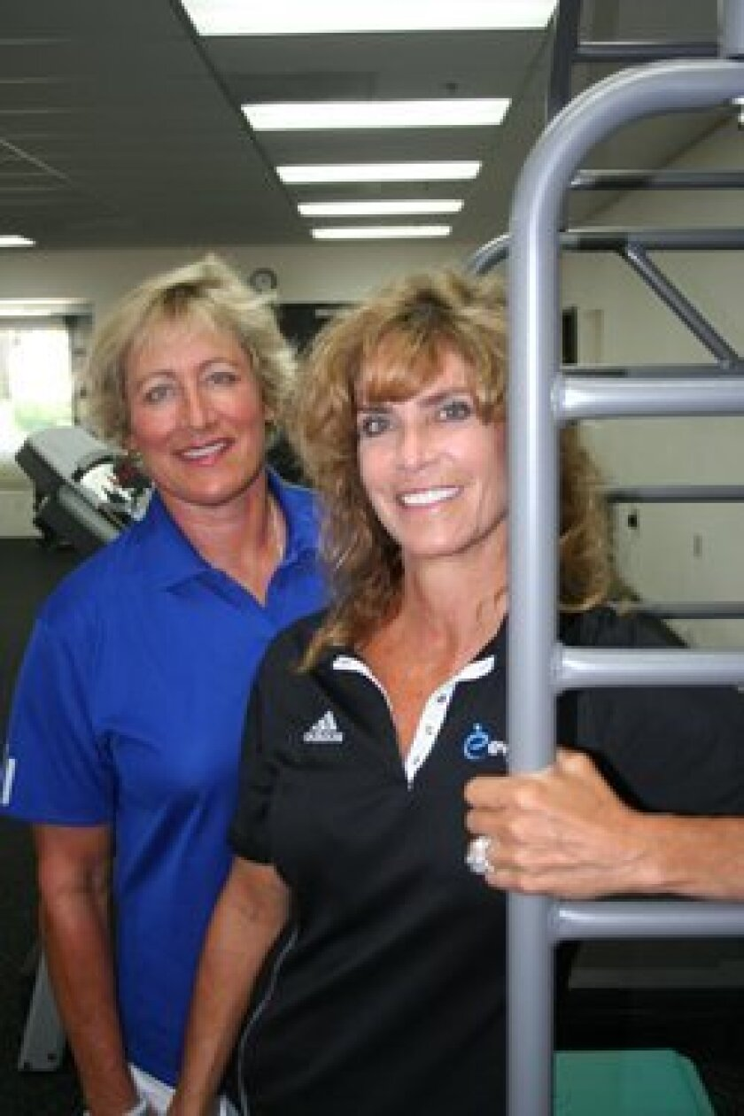Evolve Physical Therapy and Advanced Wellness co-owners Kate Grace and Annie Fonte. Photo by Karen Billing.