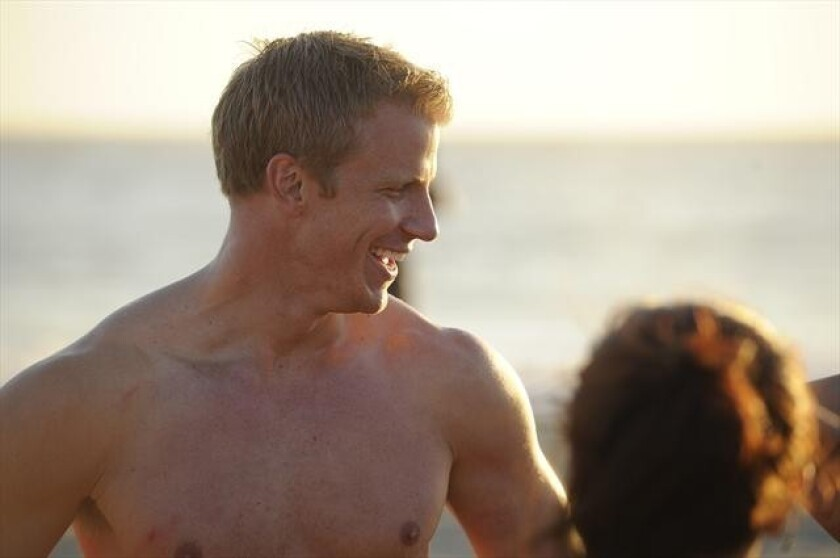 """Sean Lowe enjoys a date with some women vying for his heart on """"The Bachelor."""""""