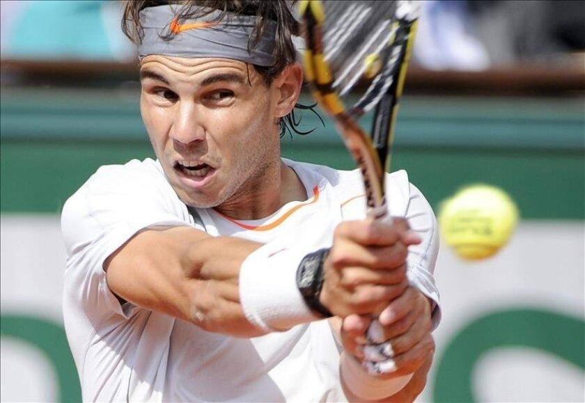 Rafael Nadal en acción. EFE/Archivo