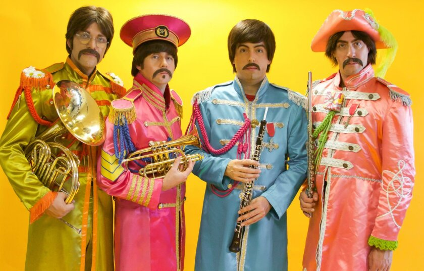 """Abbey Road, a Beatles tribute band, will perform in the """"In My Life"""" show in Poway on Feb. 28."""