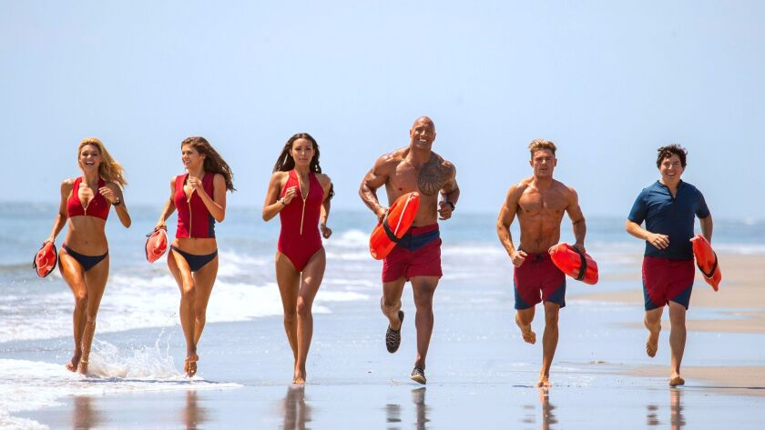 (L-R) Kelly Rohrbach as CJ Parker, Alexandra Daddario as Summer, Ilfenesh Hadera as Stephanie Holden