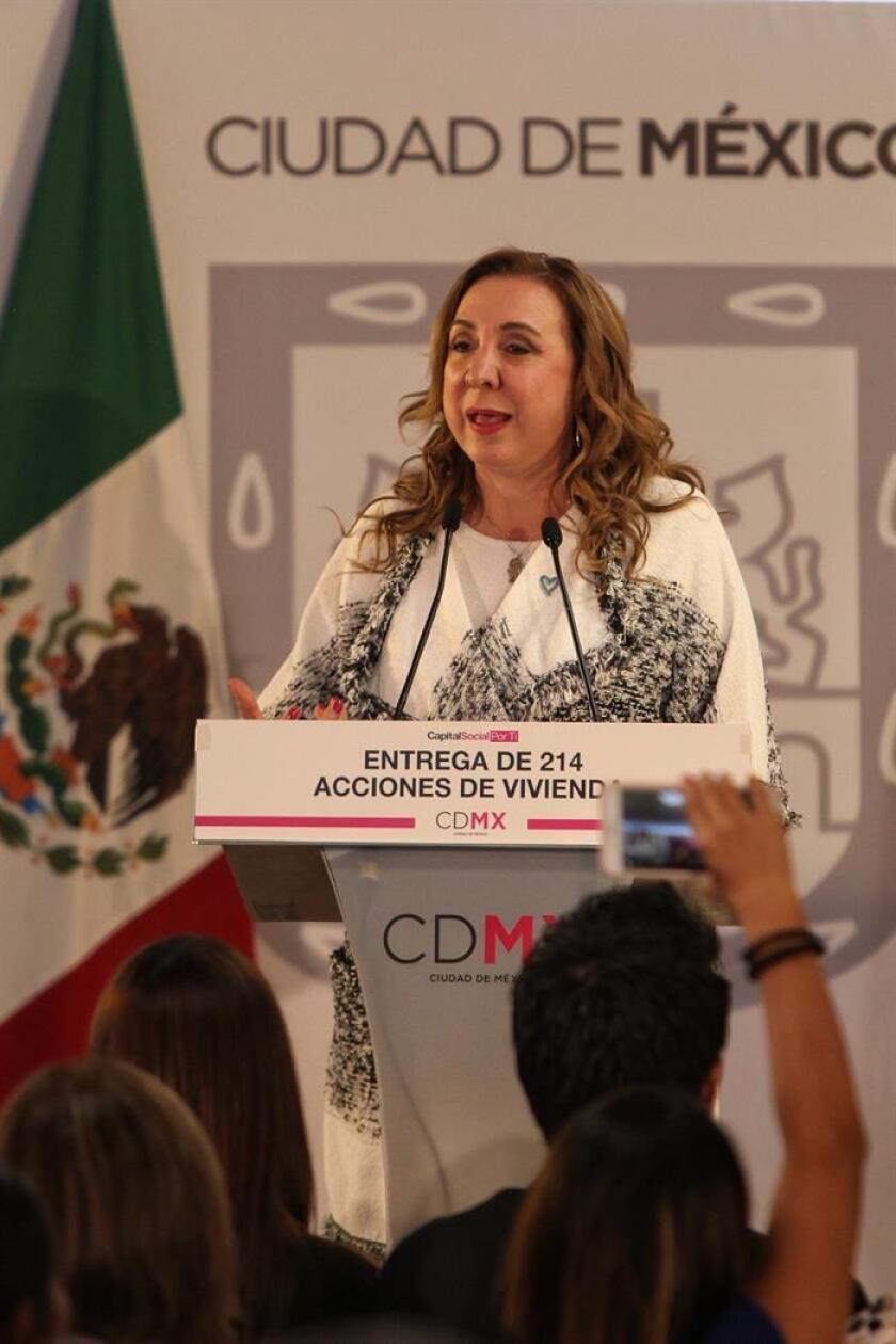Rosi Orozco, presidenta de la comisión Unidos Contra la Trata de Personas, durante una conferencia de prensa. EFE/Archivo