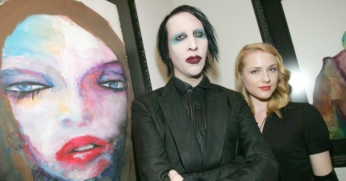 Evan Rachel Wood filed police report on Marilyn Manson's wife - Los Angeles Times