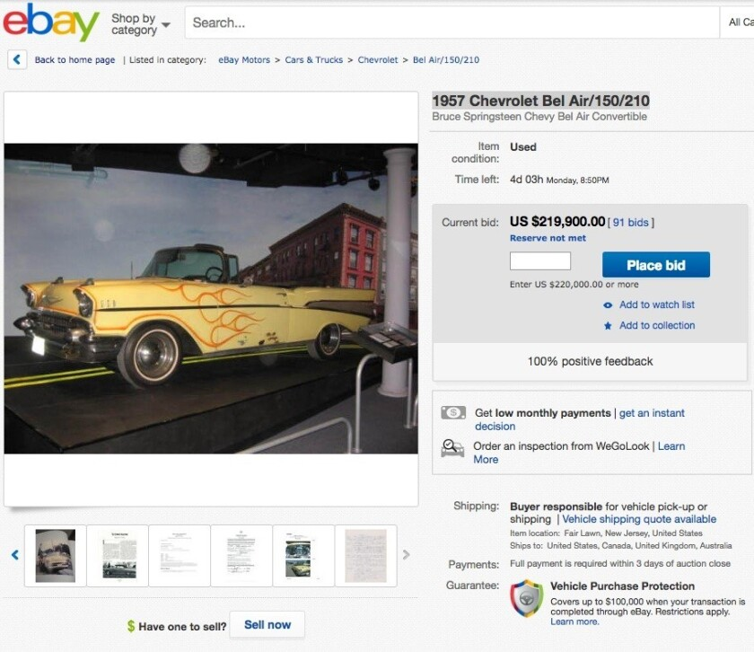 Perfect For Your Next Road Trip Bruce Springsteen 8217 S 1957 Chevy Convertible Now On Ebay Los Angeles Times