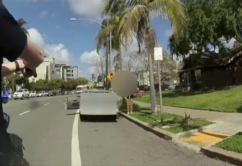San Diego police on Wednesday released body-worn camera video of a controversial stop that unfolded Tuesday afternoon.