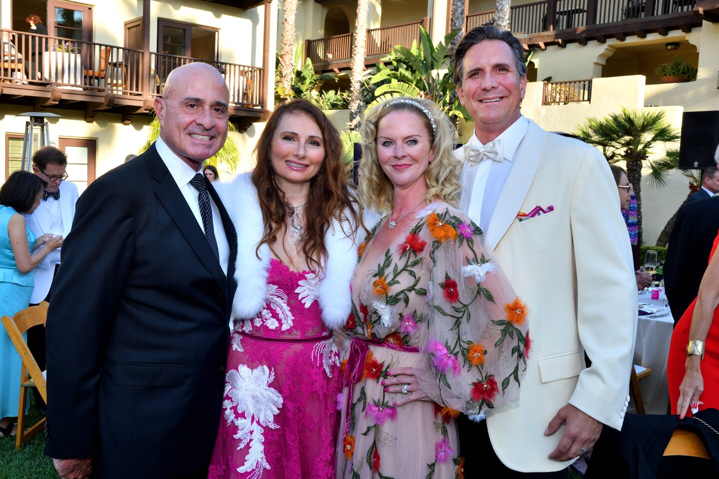 """Miguel and Carmela Koenig and Lisa and Ben Arnold attend the San Diego Opera's """"Musical Mosaics"""" gala."""