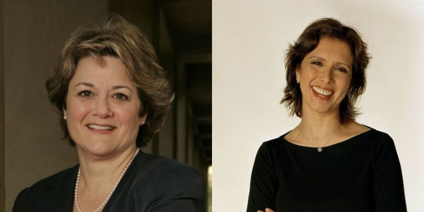 Veteran producers Bonnie Arnold, left, and Mireille Soria were tapped as co-presidents of feature animation for DreamWorks Animation.