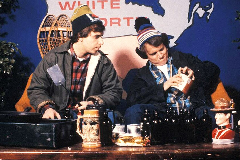 """A skit from """"Great White North"""" with Rick Moranis, left, and Dave Thomas."""