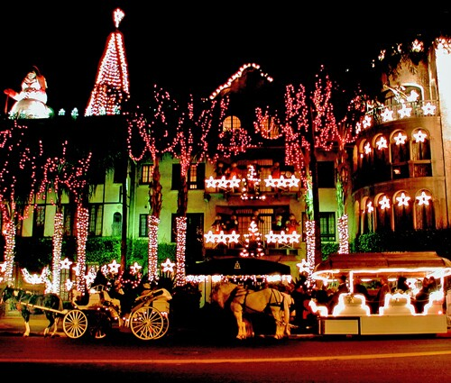 Mission Inn in Riverside, decked out for the holidays