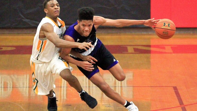 T.J. Lowery drives forward for Foothills Christian, which is No. 1 in the media rankings and No. 3 in the power rankings.