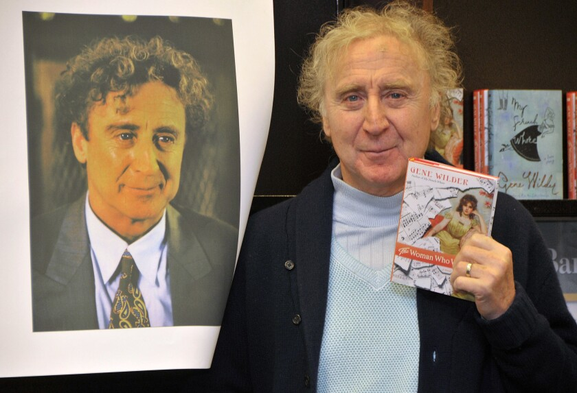 """Gene Wilder at an event for his book """"The Woman Who Wouldn't"""" in 2008."""