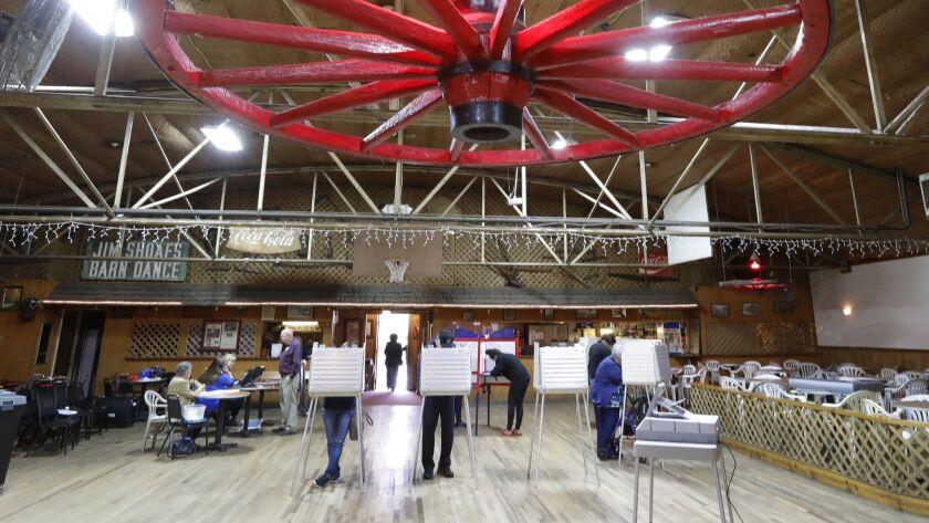 Voters cast their ballots in Salisbury, N.C. on Nov. 6.