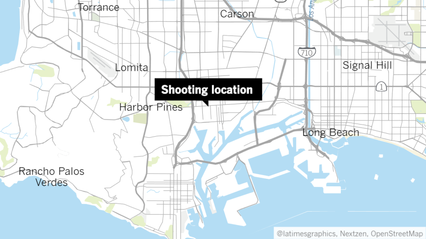 An approximate location of Wednesday's shooting near the 800 block of Bay View Avenue.