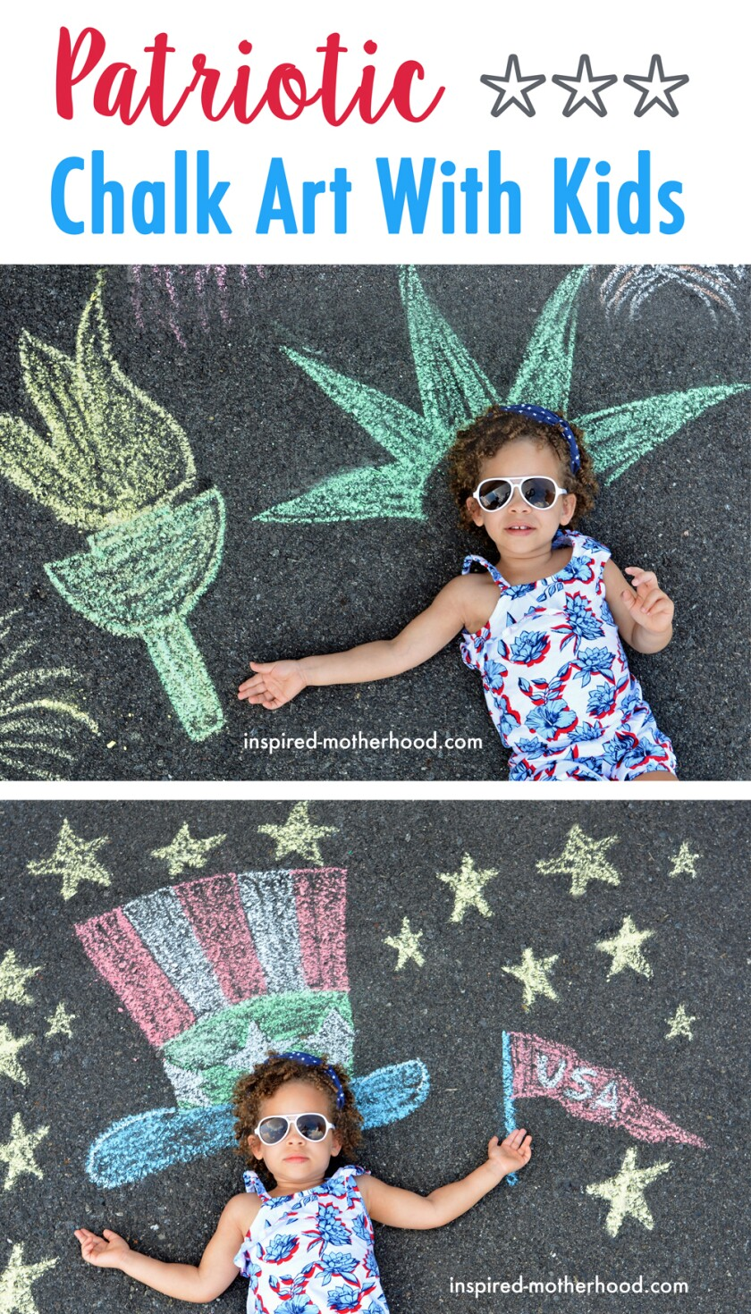 Become the hit of the neighborhood — and Instagram — with creative Fourth of July chalk art.