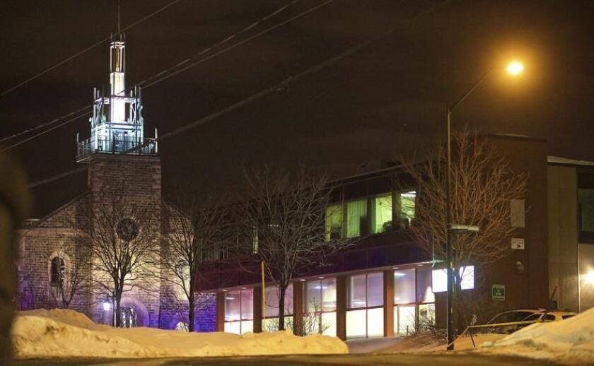 """El Gobierno mexicano condenó hoy """"enérgicamente"""" el ataque registrado el domingo contra una mezquita de Quebec (Canadá), en el que seis personas murieron y varias resultaron heridas. EFE"""