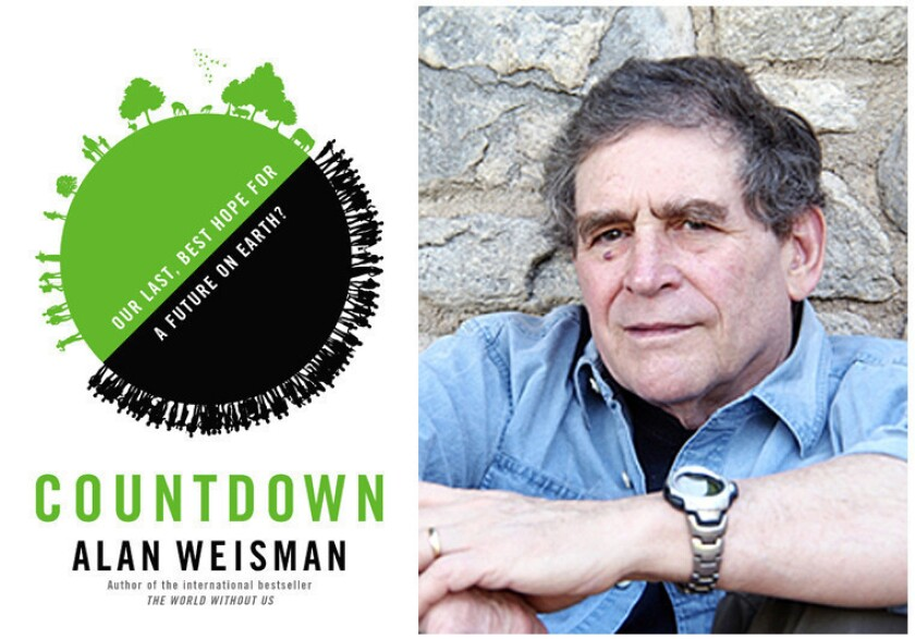 """The cover of the book, """"Countdown"""" and author Alan Weisman."""