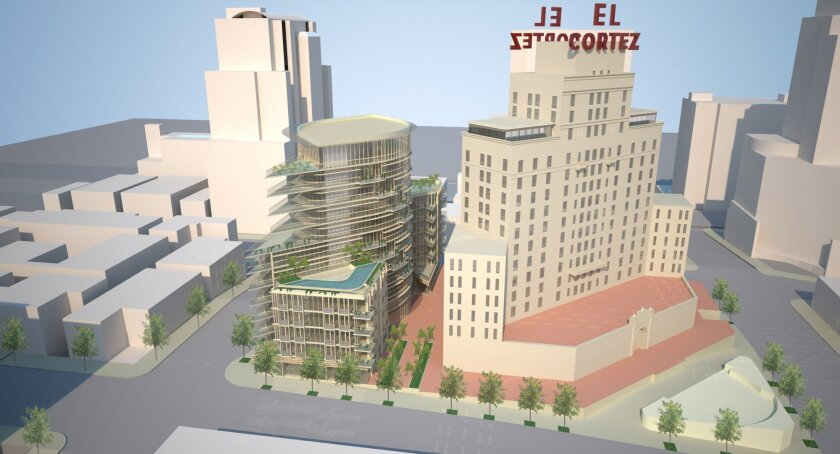 A 12-story annex would be built just north of the El Cortez tower under a plan approved by the city.