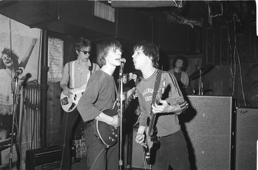 Television performs at CBGB's in New York in 1975.