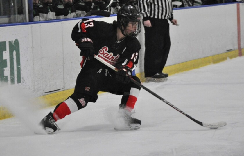 La Jolla Country Day junior Oliver Miller played hockey with the San Diego Saints and now for the Anaheim Junior Ducks.
