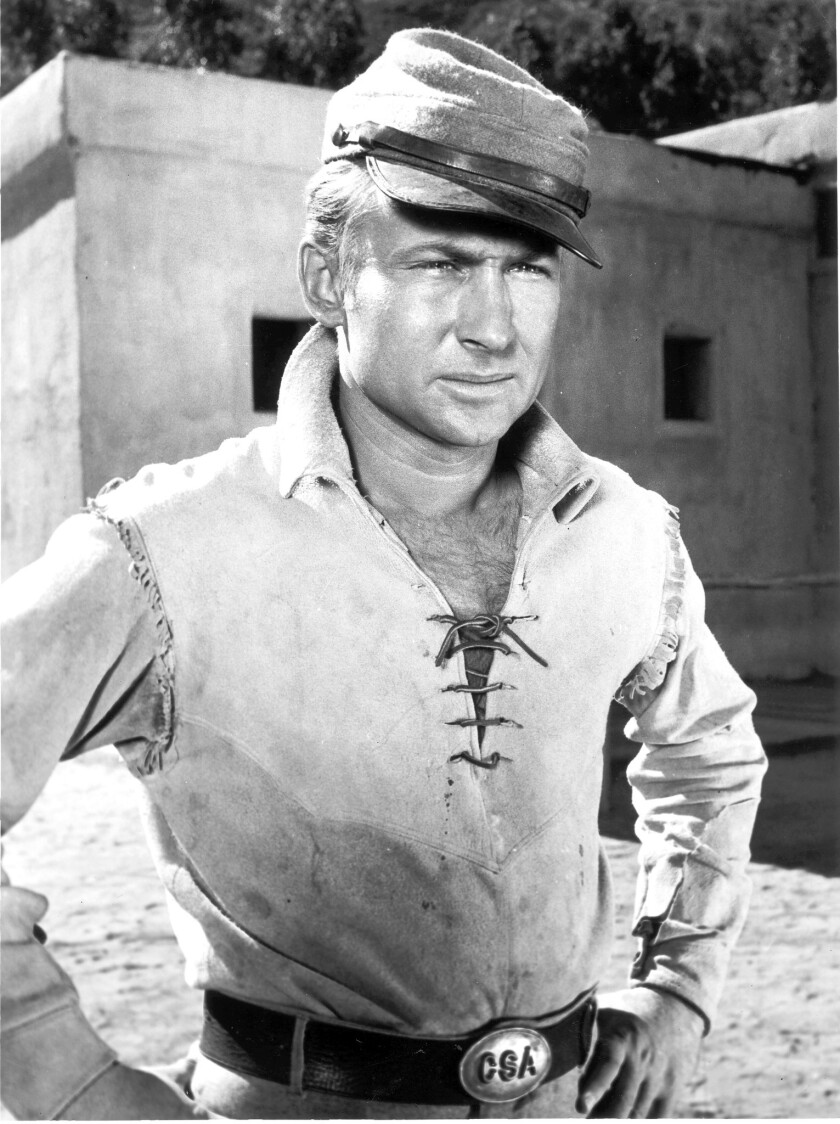 """Nick Adams poses in costume as Johnny Yuma from the television series """"The Rebel"""" in 1959."""