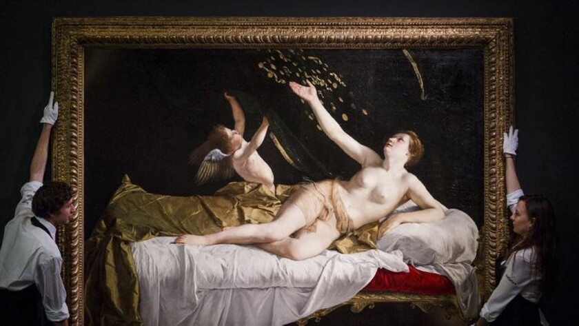 """""""Danae,"""" a Baroque masterpiece from about 1621 by Orazio Gentileschi, was bought at auction by the Getty."""