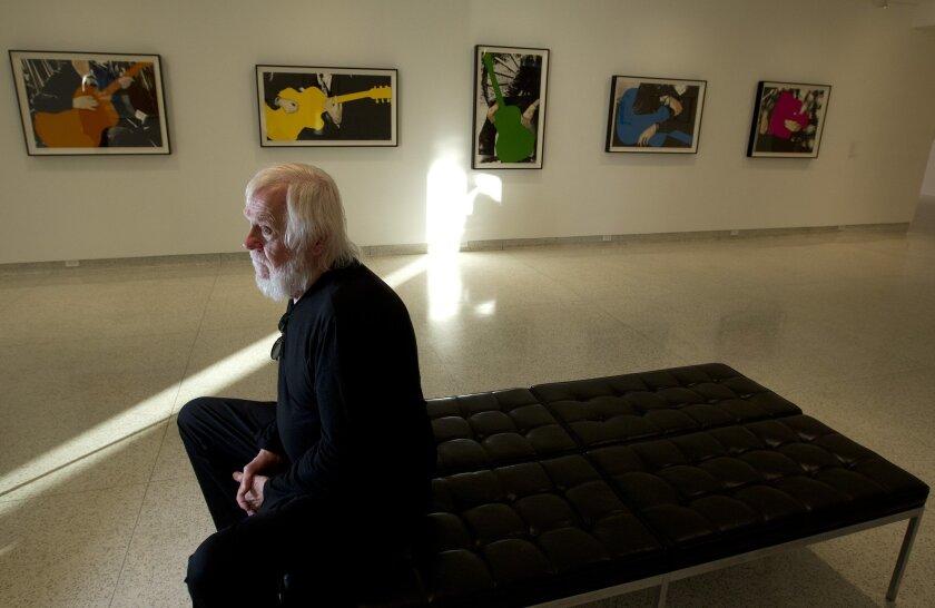 Artist John Baldessari at the Museum of Contemporary Art San Diego.