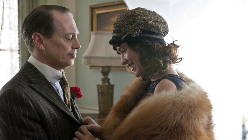 HBO series BOARDWALK EMPIRE episode @@#7: Steve Buscemi, Paz de la Huerta. photo: Abbot Genser