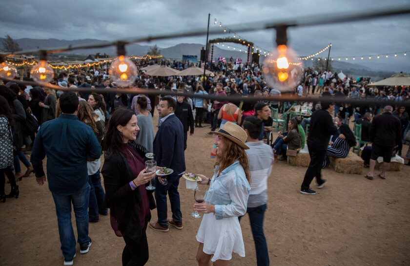 Festival-goers at the Valle Food & Wine Festival, which will mark its third year on Oct. 5 at Javier Plascencia's Finca Altozano restaurant in Baja's Valle de Guadalupe.