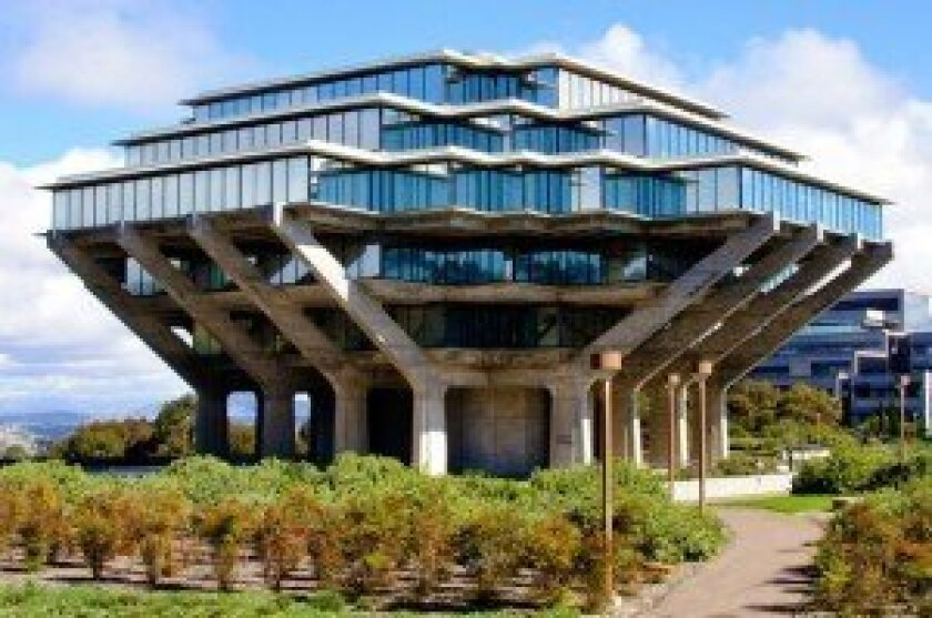 Geisel Library on the campus of UC San Diego