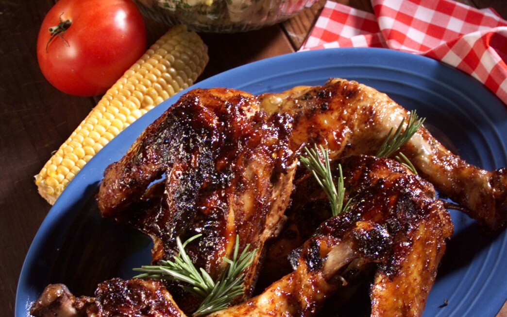 Balsamic Barbecued Chicken With Garlic, Rosemary and Sage