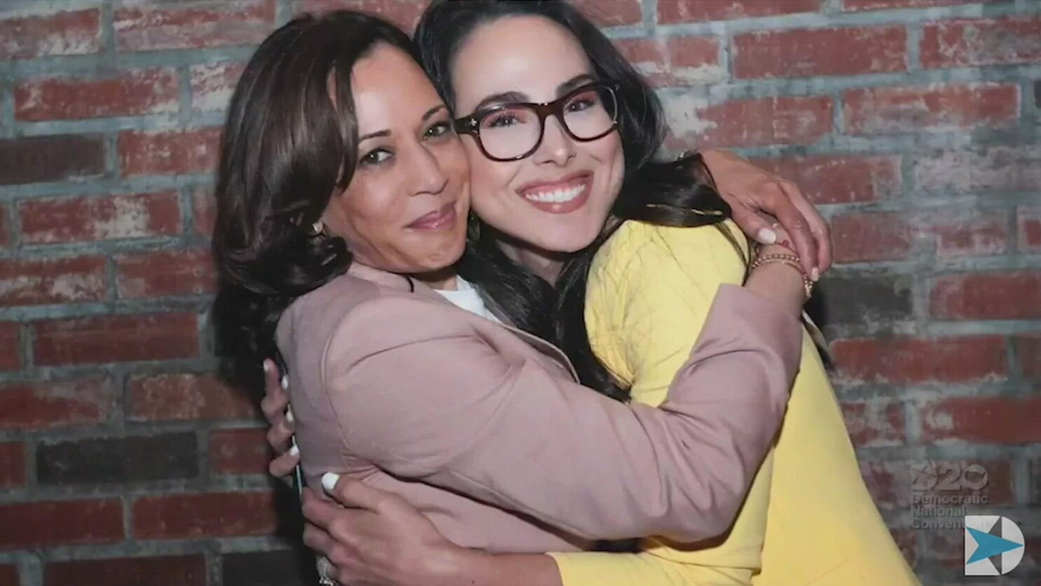 At The Dnc America Meets Kamala Harris Blended Family Los Angeles Times