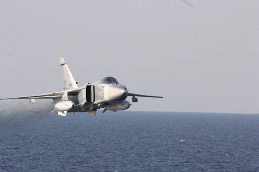 The U.S. Navy's USS Donald Cook encounters aggressive Russian aircraft in the Baltic Sea on April 13.