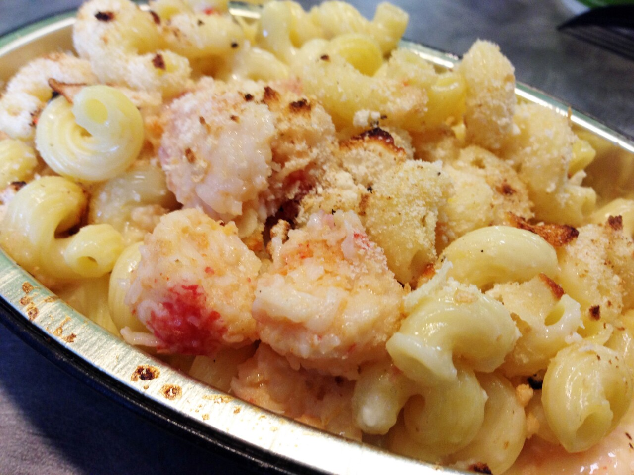 The lobster and seafood mac and cheese.