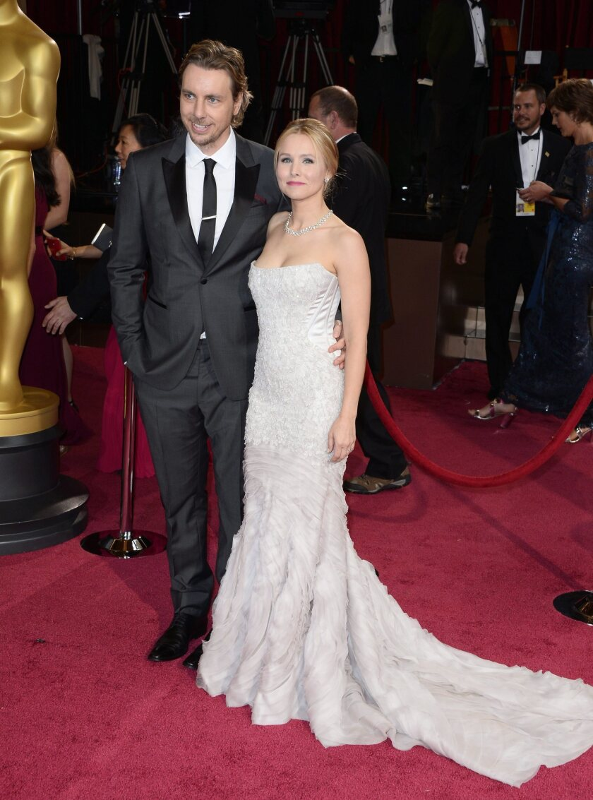 Dax Shepard and Kristen Bell arrive for the 86th annual Academy Awards at the Dolby Theatre in Hollywood.